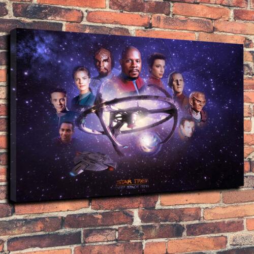 "Star Trek Deep Space Nine Boîte Imprimée Toile Art Photo A1 30/""x20/"" Deep 30 mm."