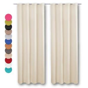 Dekoschal-2er-Set-Blickdicht-Universalband-Gardine-Vorhang-Vorhaenge-Raffhalter