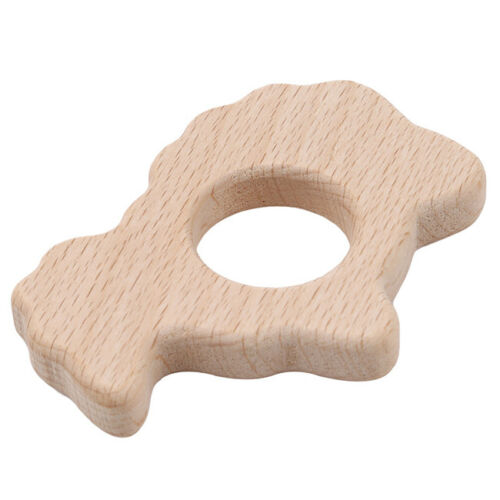 Wooden Teether Wooden Animal Shaped Teething Toys Pendant Nursing Stand BT3