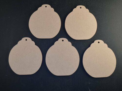 BAUBLES MDF WOODEN CRAFT SHAPES 3mm 85mm HIGH BUNTINGS WEDDINGS FAVOURS XMAS