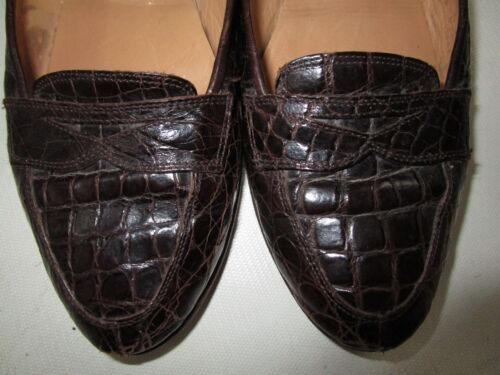 Size Dark Loafers 8 Genuine Brown Sesto Meucci Crocidile 5gqXnYw