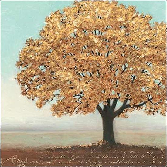 James Wiens  Gold Reflections I Keilrahmen-Bild Leinwand Bäume Baum gelb