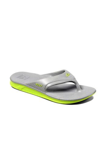 Reef Mens One Slip On Sliders Flip Flops Grey//Green