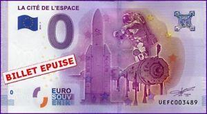 Agressif Ue Fc-1 / La Cite De L'espace - Toulouse / Billet Souvenir 0 Euro / 2016-1