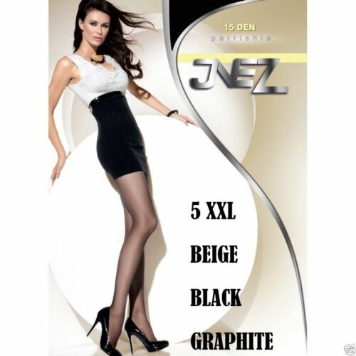 Women Plus Size Tights Pantyhose Collant 5 XXL 15 DEN Strumpfhose 5XL 5-XL 5X
