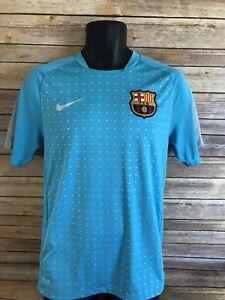 on sale 654b2 20f8c Nike Dri Fit Barcelona FC B Soccer Jersey Size Small Mens ...