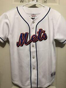 cheaper 516e5 14bc5 Details about MLB Baseball New York Mets David Wright #5 Sewn Jersey Youth  Medium Majestic