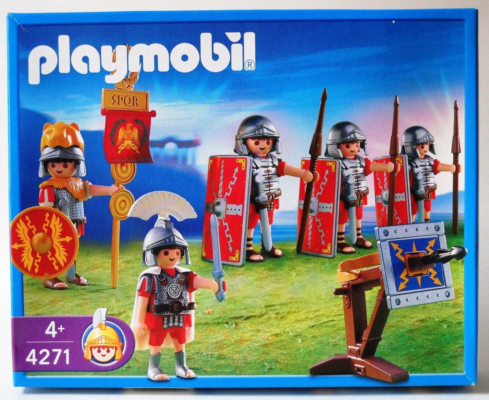 Playmobil 4271 Roman Soldiers Legionnaires Spearmen Shields Ballista 2005 2005 2005  NISB 9ead20