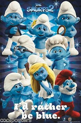 THE SMURFS SMURFALICIOUS POSTER NEW 22X34 FREE SHIPPING