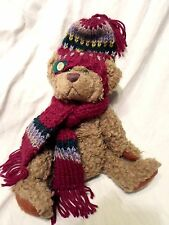"Dooley Original Brass Button Bear 10"" Teddy Bear Plush Soft Toy Stuffed Animal"