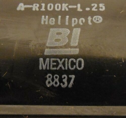 BECKMAN INDUSTRIAL HELIPOT POTENTIOMETER A-R100K-L.25 AR100KL25 NIB
