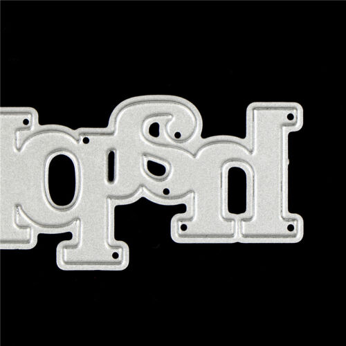 Greeting Words happy Metal Cutting Dies For DIY Scrapbooking Card Craft Decor VU