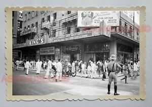 CENTRAL-KING-039-S-THEATER-D-039-AGUILAR-STREET-B-amp-W-VINTAGE-HONG-KONG-Photo-23685