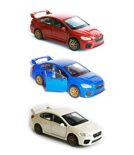 Subaru WRX STI metal maqueta de coche auto modelo juguetes auto Welly 3 colores 80