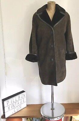 1970s Splendida 'heatona' Designer Marrone Pelle Di Pecora/pelle Scamosciata Jacket, Uk14, S-e Jacket, Uk14, S It-it Mostra Il Titolo Originale