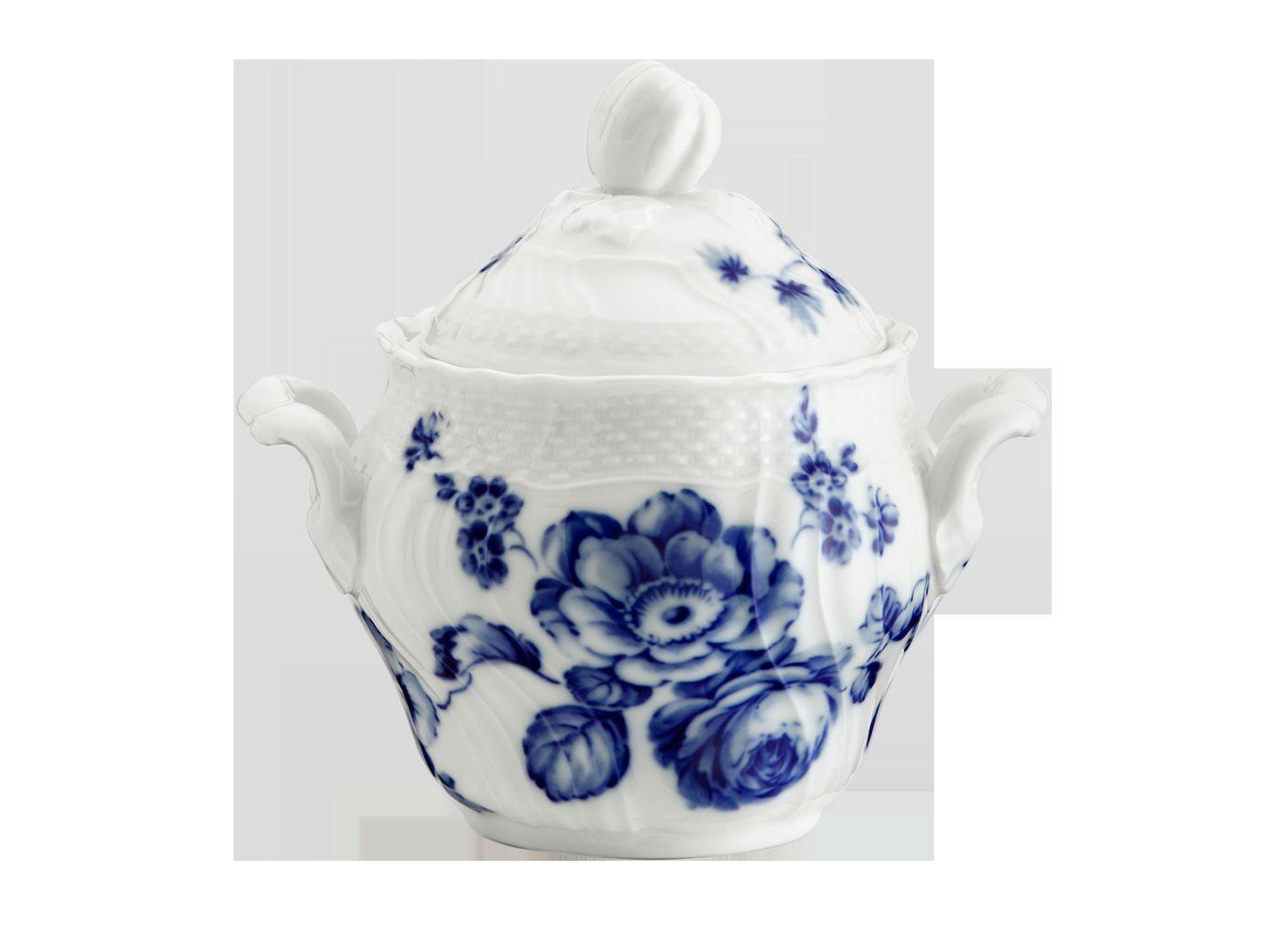 Richard Ginori - Rose bleu - Sucrier café cc 490 pour 12 gens Revendeur