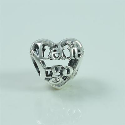 Authentic Genuine Pandora Silver Disney Frozen Let It Go Heart Charm 791596