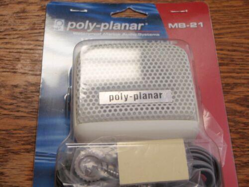 VHF SPEAKER WHITE POLY PLANAR 665 MB21W 8WATT WHITE MARINE ELECTRONICS BOAT PART