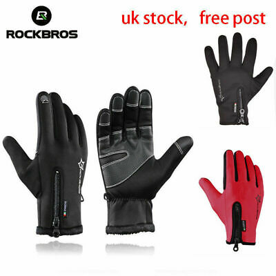 Windproof Sports Warm Skiing Bike Gloves Thermal Touch Screen Winter Outdoor UK