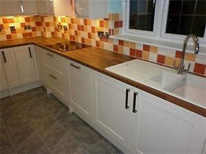 Matt cream shaker kitchen unit cupboard doors drawers for Kitchen cabinets b q