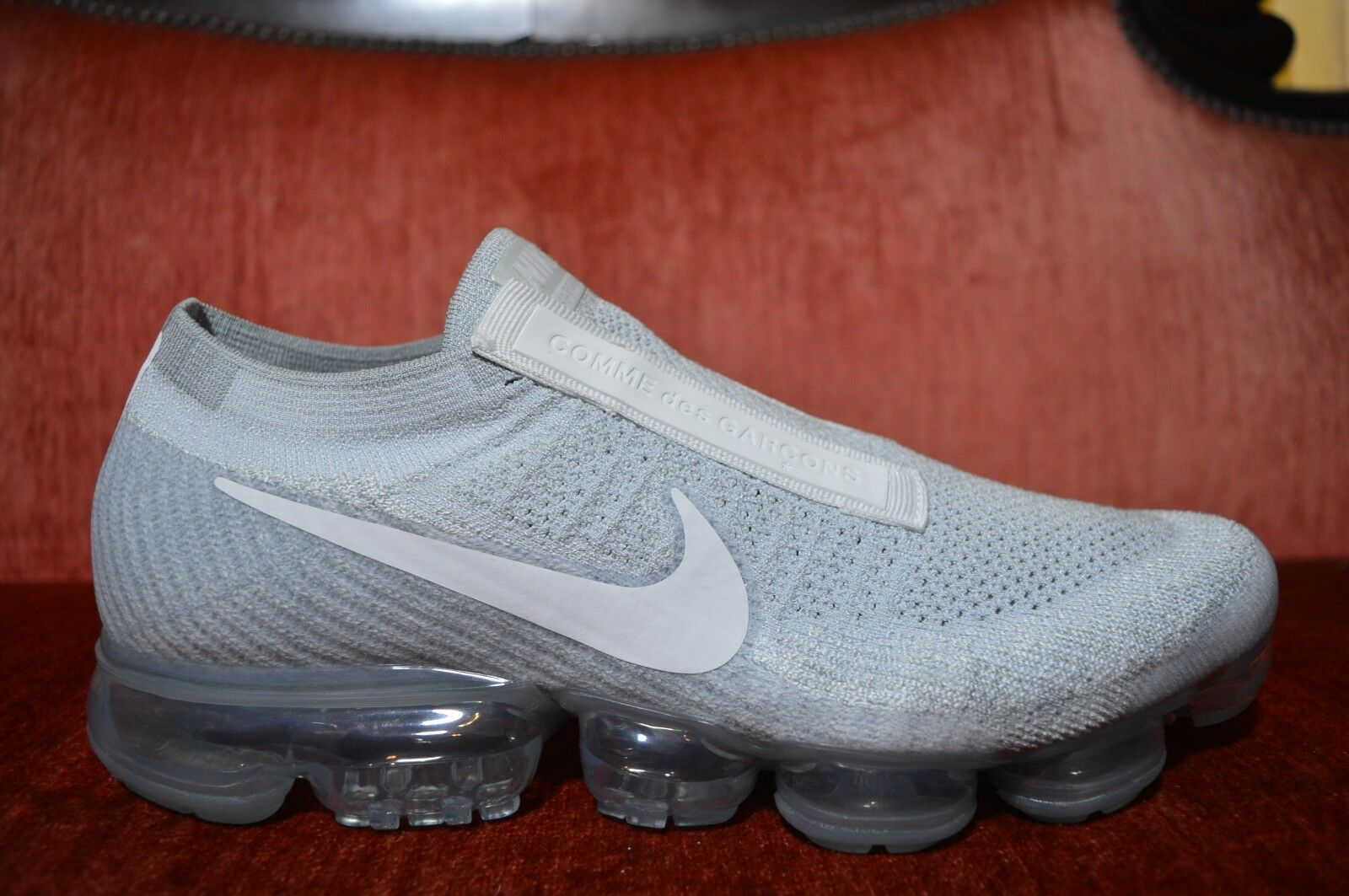 CDG x Nike Air Vapormax FK White Size 10.5 M 12 W 924501-002 Comme Des Garcons