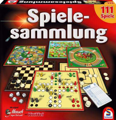 Schmidt Spiele Sammlung 111 Spielesammlung mit Kniffel u Mensch ärgere Dich