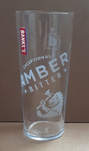 Banks*s Amber Bitter New Pint Glass Homebar Mancave Party