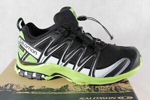 zapatillas salomon xa pro 3d gtx negro blanco verde queda