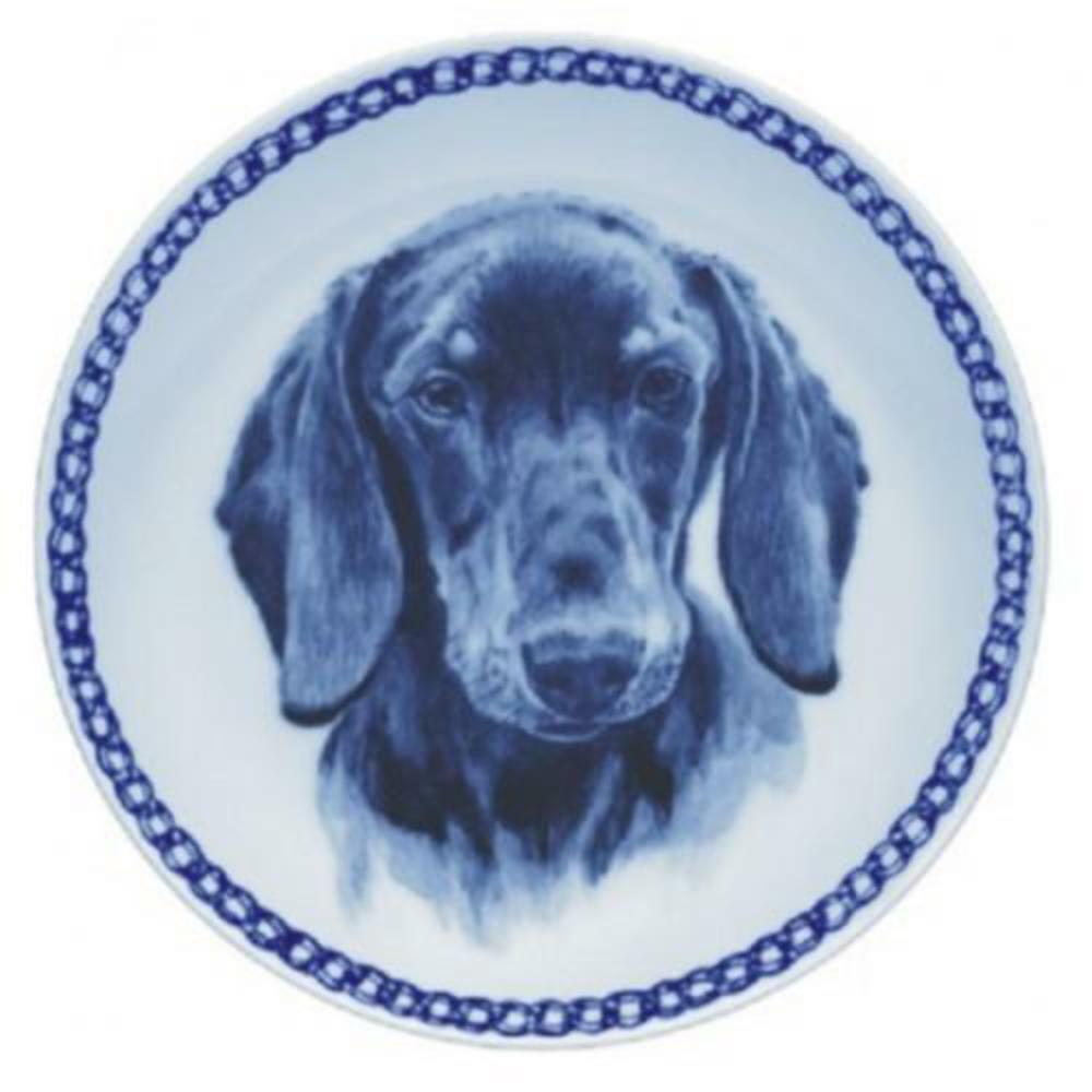 Dachshund  Shorthaired  Dog Plate made in Denmark from the finest European Por