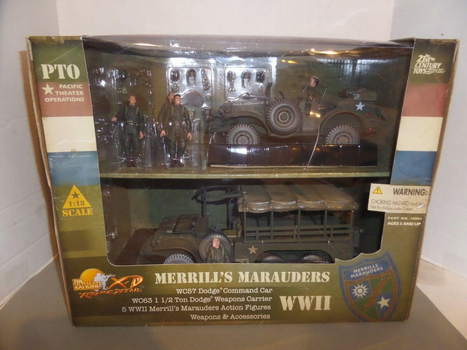 raros Ultimate Soldier Merrills merodeadores escala