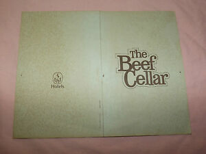 VINTAGE THE BEEF CELLAR MENU