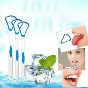 5X-Kunststoff-Zunge-Tounge-Reiniger-Schaber-Zahnpflege-Mundhygiene-Mund-Wer-O2N2