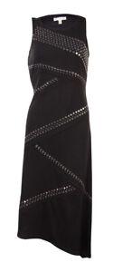 Spense-Women-039-s-Petite-Studded-Asymmetrical-Hem-Dress-2P-Black