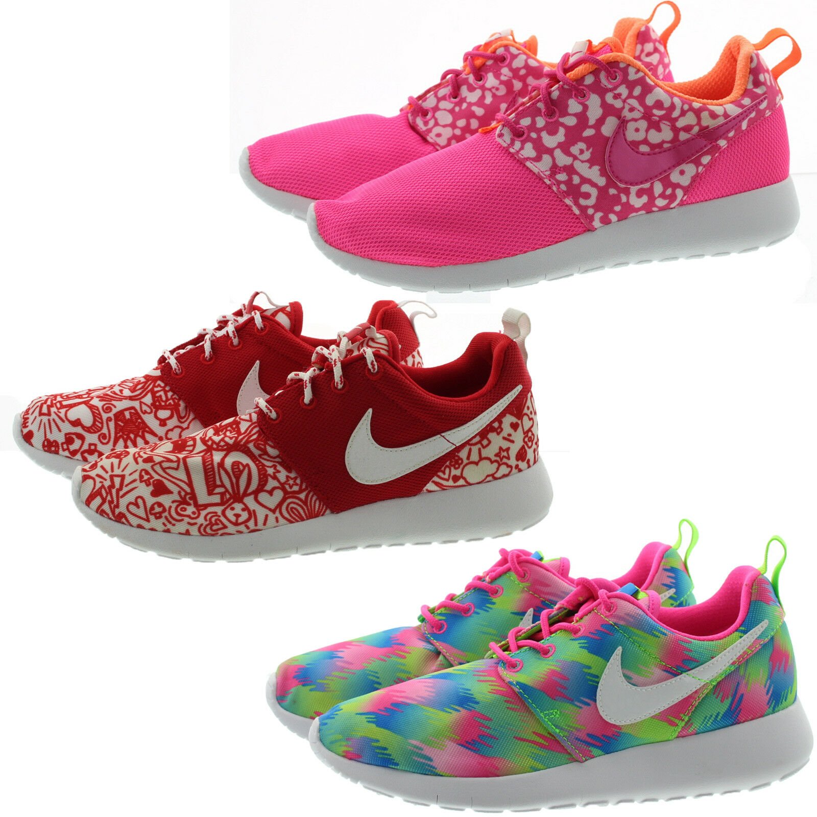 d523f6002b6 Nike Roshe One Print GS Multi-color Rosherun Kids Youth Running Shoes  677784-607 5 Y for sale online