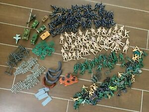 Huge-Lot-of-Army-Men-Toy-Soldier-Battle-Field-Accessories