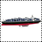 1:800 Japan NYK Line Castor Container Ship Vessel DIY Handcraft Paper Model Kit