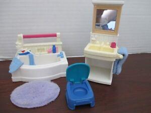 Fisher Price Loving Family Dream Dollhouse Bathroom Bath tub Shower Bathtub