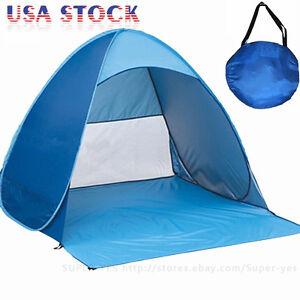 Image is loading Portable-Beach-Tent-Shelter-Sun-UV-Shade-Pop-  sc 1 st  eBay & Portable Beach Tent Shelter Sun UV Shade Pop Up Canopy Fishing ...