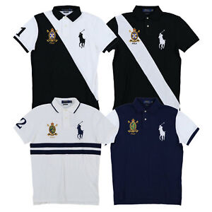ce7b6c66 Polo Ralph Lauren Big Pony Custom Slim Fit Polo Shirt Mesh Knit ...