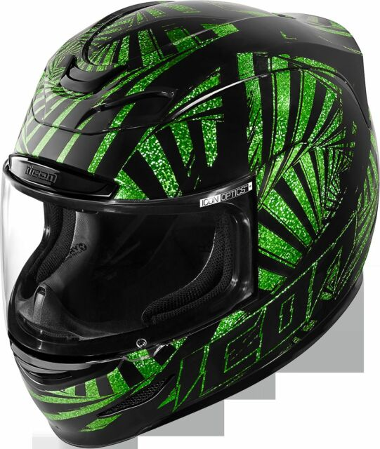 12391500 ICON AIRMADA MOTORCYCLE HELMET AM SPAZTYK GREEN SM SMALL FREE SHIPPING  0101-7125