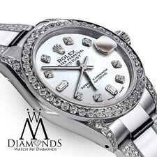 Diamond Women's Rolex Datejust 31mm stainless Steel Diamond Watch White Dial