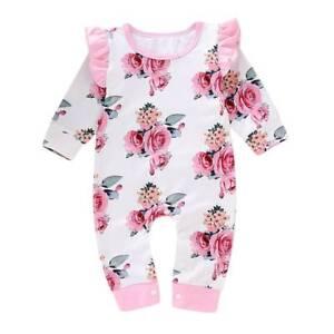 d34e8f1caeae Details about US Newborn Infant Kids Baby Girl Bodysuit Romper Jumpsuit  Outfit Boy Clothes Set
