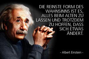 Albert-Einstein-Spruch-11-Blechschild-Schild-gewoelbt-Tin-Sign-20-x-30-cm-R0316