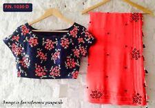 Designer Wear Gorgeous Heavy Georgette Saree with Thread Work Stitched Blouse
