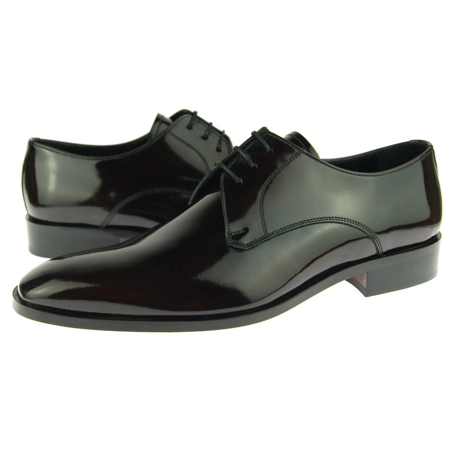 Alex D  Phoenix  Plain Toe Derby, Hombre cuero de vestir Oxford Zapatos, Borgoña