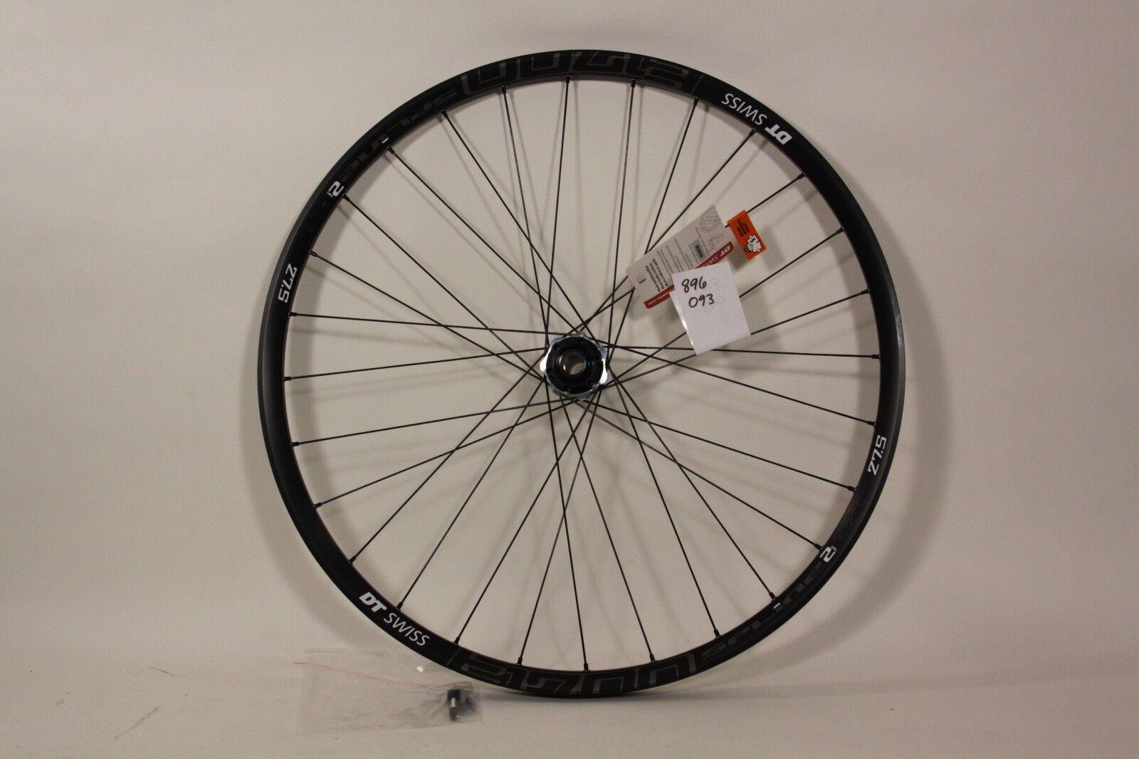 DT Swiss 27.5  Front Wheel E 1700 Spline2 20 x 110mm Axle 28h 6 bolt  896093