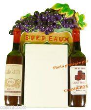 MAGNET aimant BLOC NOTE publicité pub bouteilles vin de BORDEAUX SAINT EMILION