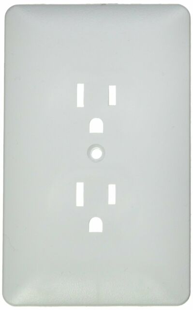 Taymac 2000w Paintable Outlet Cover Wall Plate LOT OF 5 White Frame 1 Gang  New