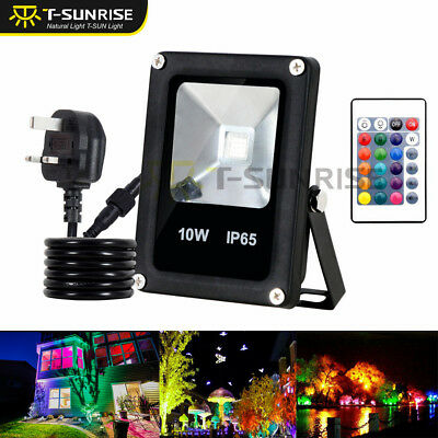 1//2//4 x 10W Colour Changing RGB LED Flood Light Spotlight Outdoor Garden Lamp