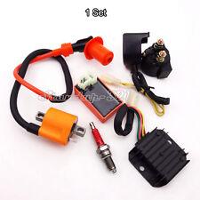 Racing Ignition Coil CDI Spark Plug Regulator Rectifier Relay Kit For 150cc 200c